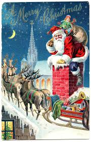 santa and reindeer vintage graphic gorgeous santa with reindeer the graphics fairy