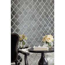antique mirror arabesque mosaic glass tile 10in x 14in floor