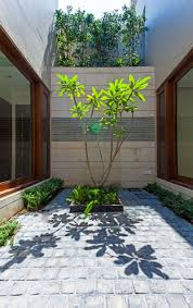 Courtyard Home Designs by Courtyard With Simple Model For Home Design Home Design