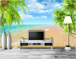 3d room wallpaper custom photo mural hawaii beach coconut trees