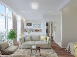 Small Apartment Interior Design Sunny Studio Apartment With Panoramic Windows In The Heart Of