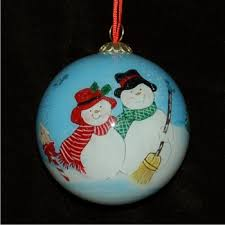 snow glass family ornaments personalized