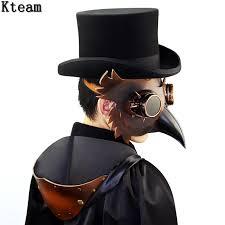 plague doctor hat aliexpress buy new pu leather retro rock beak bird