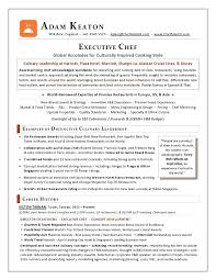 sample executive chef resume line cook resume samples with sample