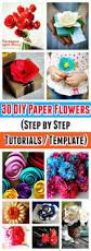 30 diy paper flowers step by step tutorials template diy