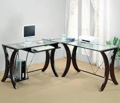 Small Espresso Desk Office Desk Home Computer Desks Reception Desk Glass Desk