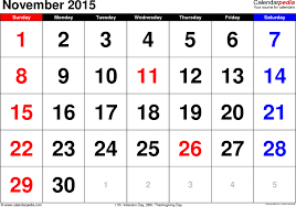 calendar november 2015 calendar