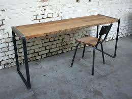 bureau vintage design bureau industriel metal bois bureau b14 structure mactal bois style