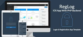 buy reglog ios template with php backend utilities and widgets
