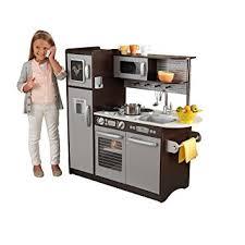 set cuisine enfant kidkraft cuisine enfant en bois uptown espresso amazon fr jeux et