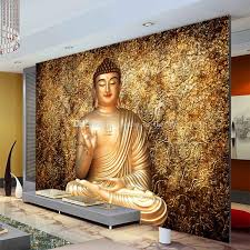 golden buddha photo wallpaper buddhist temple wall mural custom 3d