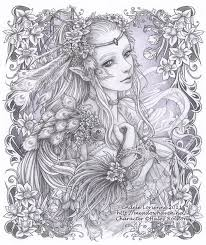 fairy zentangle coloring pages coloring