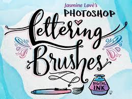 digital ink lettering brushes for photoshop u0026 adobe sketch by