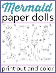 printable mermaid paper dolls color