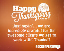 we are so thankful for our clients happy thanksgiving rock