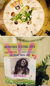 music themed sam u0026 paul u0027s wedstock music festival wedding wedfest
