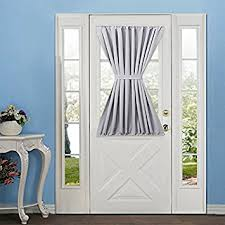 amazon com elegance blackout french door curtains panel 54w by