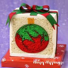present cake with an ornament inside hungry