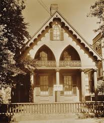 massachusetts house walker evans american 1903 1975 wooden gothic revival house