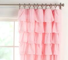 Ruffled Pink Curtains Pottery Barn Blackout Curtains Pottery Barn Ruffle Blackout