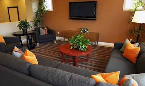 how to decorate small living room space with dark sofa set home