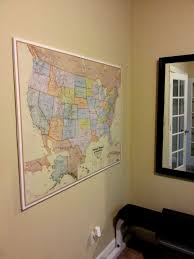 Hanging Pictures On Drywall by Mount And Hang Large Maps With Ease So Much To Make