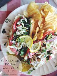 crab salad roll u0026 cape cod chips living the gourmet