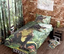 Kids Single Duvet Cover Sets T Rex Duvet Cover Bed Sets Jurassic Dinosaur Kids Bedding New Ebay