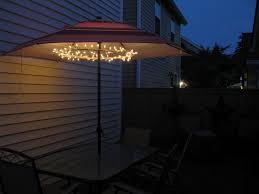 Rectangular Patio Umbrella With Solar Lights by Solar Lights For Outdoor Umbrella 47765 Astonbkk Com