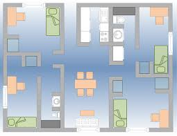 4 Bedroom Apartment by University Apartments Campus Services Student Affairs Florida
