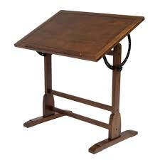 Architect Drafting Table Vintage Drafting Table Drawing Rustic Oak Wood Desk Architect