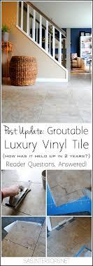 groutable luxury vinyl tile floor an update burger