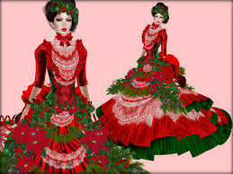 christmas ball gown