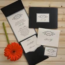 initial wedding invitation set thermography wedding invite