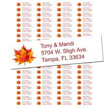 fall leaves return address labels free shipping