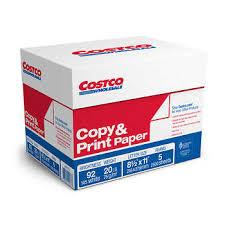 paper ream box costco copy print paper letter 20 lb 92 bright 5 reams per