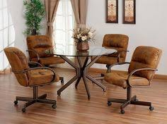 kitchen table and chairs with casters new swivel tilt dining dinette 4 chairs on casters and table set