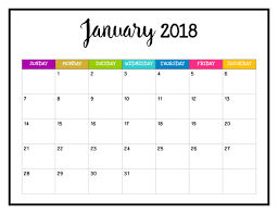 printable calendar pages 2018 printable calendar 2018 wall calendar pages bright and