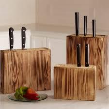 sustainably grown burnt pine knife blocks vivaterra