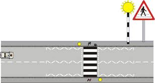 A Flashing Yellow Signal Light Means Theory Test Advice Learn To Drive Pedestrian Crossings