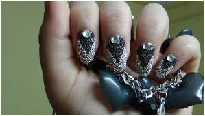 black and silver nail art step by step tutorial with pictures