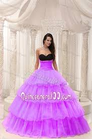 quinceaneras dresses beading multi tiered lilac black quinceanera dresses