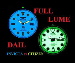 Green Or Blue Full Lume Dail Watch Performance Citizen Vs Invicta Youtube