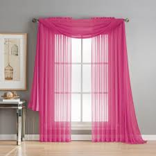 window elements diamond sheer voile 56 in w x 216 in l curtain