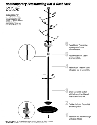 contemporary freestanding hat and coat rack with integrated