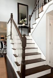 dark wood stairs staircase traditional with stair tread black