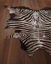 Zebra Print Rug With Pink Trim Animal Rugs Cowhide U0026 Zebra Rugs At Neiman Marcus Horchow