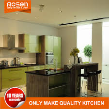 green kitchen cabinets for sale china custom green paint laminate covered kitchen cabinets