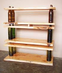kitchen diy kitchen shelving ideas made from reclaimed bottle