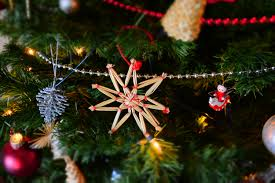 Decoration Of Christmas by Close Up Of Christmas Tree At Night Free Stock Photo